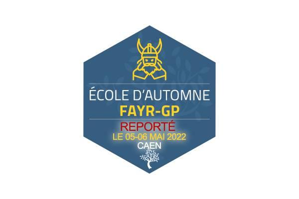 REPORTE - Ecole Automne FAYR GP - 24 et 25 septembre 2021 à Caen